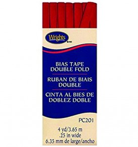 Wrights Tape Double Fold Bias 4yd Red
