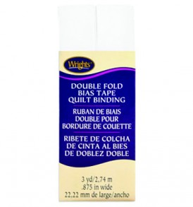 Wrights Double Fold Quilt Binding 3yd White