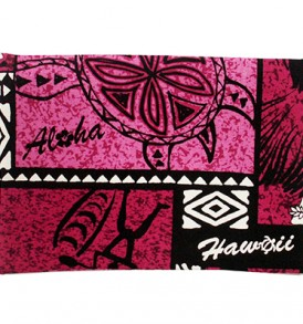 Canvas Coin Purse – Large Honu Box Fuchsia