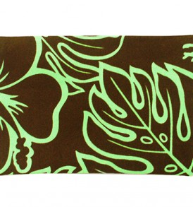 Canvas Coin Purse – Large Monstera Lover Brown