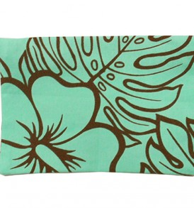 Canvas Coin Purse – Large Monstera Lover Mint