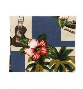 Canvas Coin Purse – Small Hawaiian Dance Blue
