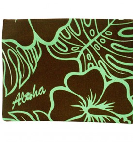 Canvas Zipper Pouch – Large Monstera Lover Brown