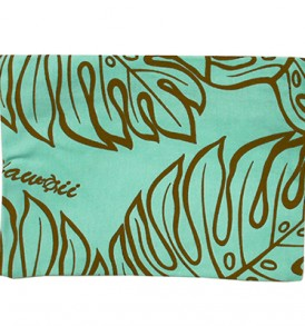 Canvas Zipper Pouch – Large Monstera Lover Teal
