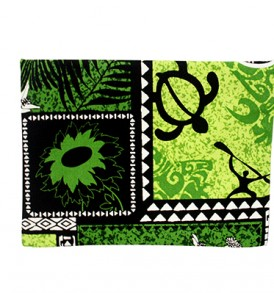 Canvas Zipper Pouch – Large Honu Box Green