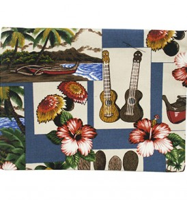 Canvas Zipper Pouch – Large Hawaiian Dance
