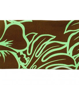 Canvas Zipper Pouch – Small Monstera Lover Brown