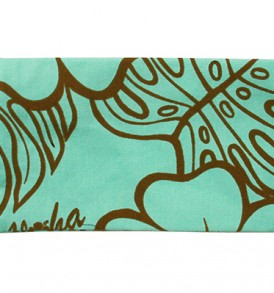 Canvas Zipper Pouch – Small Monstera Lover Teal