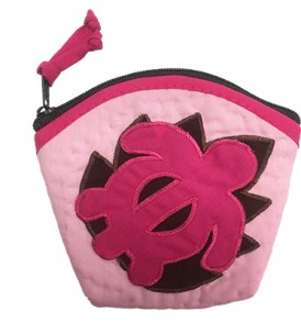 Quilted Coin Purse Large – Honu L.Pink Pink