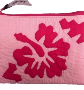 Quilted Zipper Pouch (Large) – Hibiscus Pink