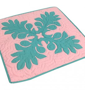 Quilted Pillow Cases Laua'e Leaf Pink