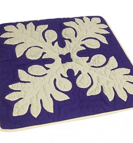 Quilted Pillow Cases Laua'e Leaf Purple