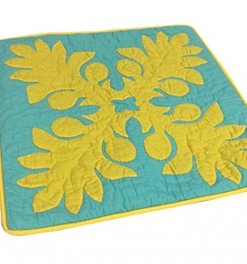 Quilted Pillow Cases Laua'e Leaf Teal