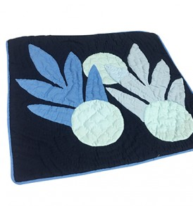 Quilted Pillow Cases Pineapple Navy