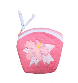 Quilted Coin Purse Large – Hibiscus Pink