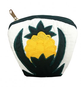 Quilted Coin Purse Large – Pineapple Cream
