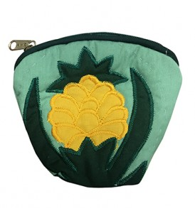 Quilted Coin Purse Large – Pineapple Green