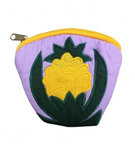 Quilted Coin Purse Large – Pineapple Lavender