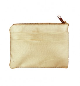 Quilted Coin Purse Square – Honu Tapa Beige Yellow
