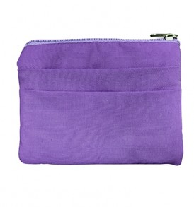 Quilted Coin Purse Square – Honu Tapa Purple Green