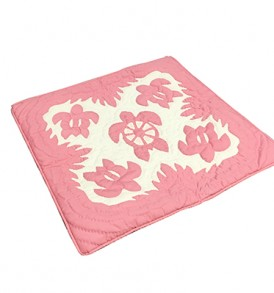 Quilted Pillow Cases Honu Tapa Pink