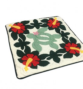 Quilted Pillow Cases Hibiscus & Honu Hunter