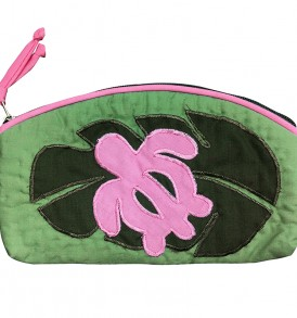 Quilted Pouch (Small) – Monstera Honu