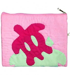 Quilted Zipper Pouch (Large) – Honu Pink