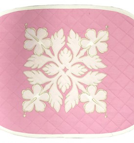 Hawaiian Quilt Placemat-Over-Hibiscus Pink