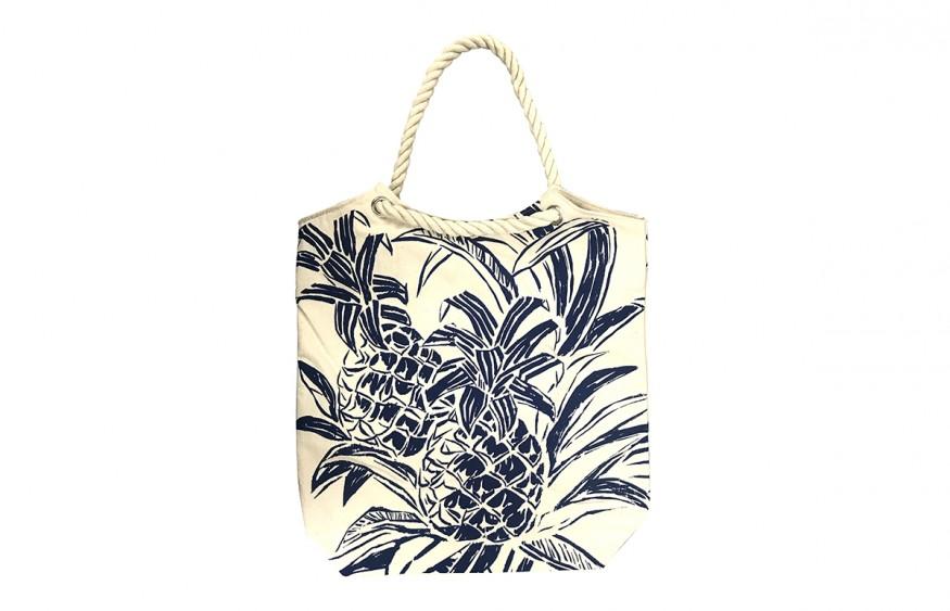 Hawaii Fabric Mart KAWIKA Canvas Bag Pineapple Canvas