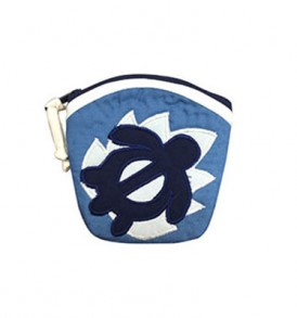 Quilted Coin Purse Large – Honu Blue Cream