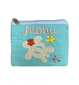 Quilted Coin Purse Middle – Aloha Honu Turquoise