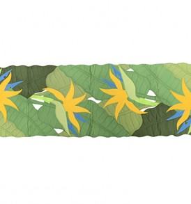Quilted Table-Runner – Bird of Paradise