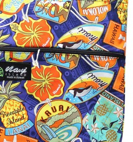 Tote Bag Zipper L – Aloha Tag Navy