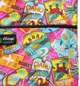 Tote Bag Zipper L – Aloha Tag Pink