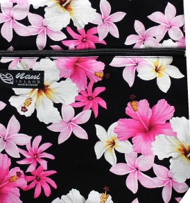 Tote Bag Zipper L – Dream of Flower Black