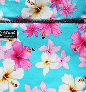 Tote Bag Zipper L – Dream of Flower Blue