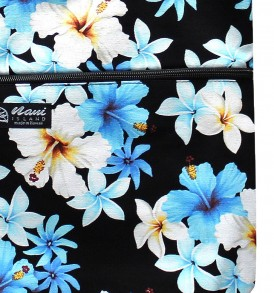 Tote Bag Zipper L – Dream of Flower Navy