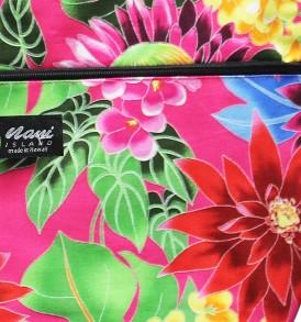 Tote Bag Zipper L – Hawaiian Garden Pink