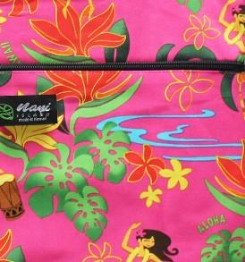 Tote Bag Zipper L – Hawaiian Hula Girl Pink