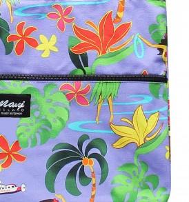 Tote Bag Zipper L – Hawaiian Hula Girl Purple