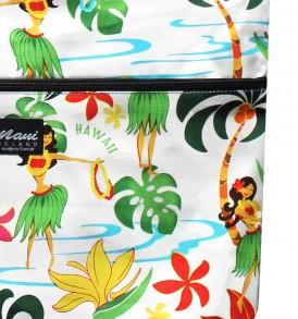 Tote Bag Zipper L – Hawaiian Hula Girl White
