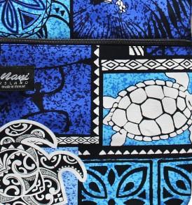 Tote Bag Zipper L – Honu Box Blue