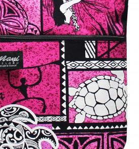 Tote Bag Zipper L – Honu Box Pink