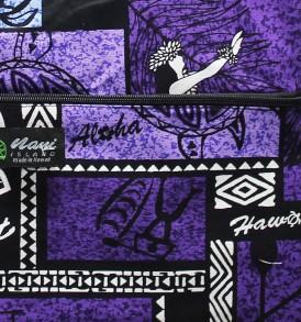 Tote Bag Zipper L – Honu Box Purple