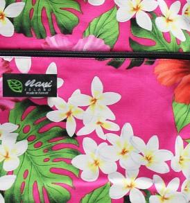 Tote Bag Zipper L – Luxury Hibiscus Pink