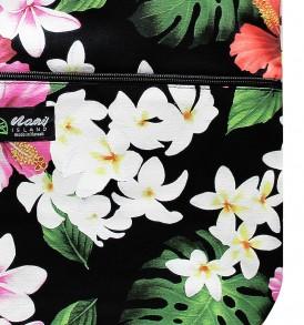 Tote Bag Zipper L – Luxury Hibiscus Black