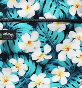 Tote Bag Zipper L – Modern Plumeria Blue