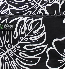 Tote Bag Zipper L – Monstera Lover Black