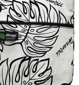 Tote Bag Zipper L – Monstera Lover Cream